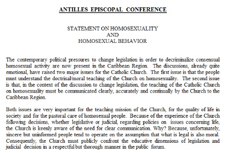AEC Statement on Homosexuality and Homosexual Behaviour