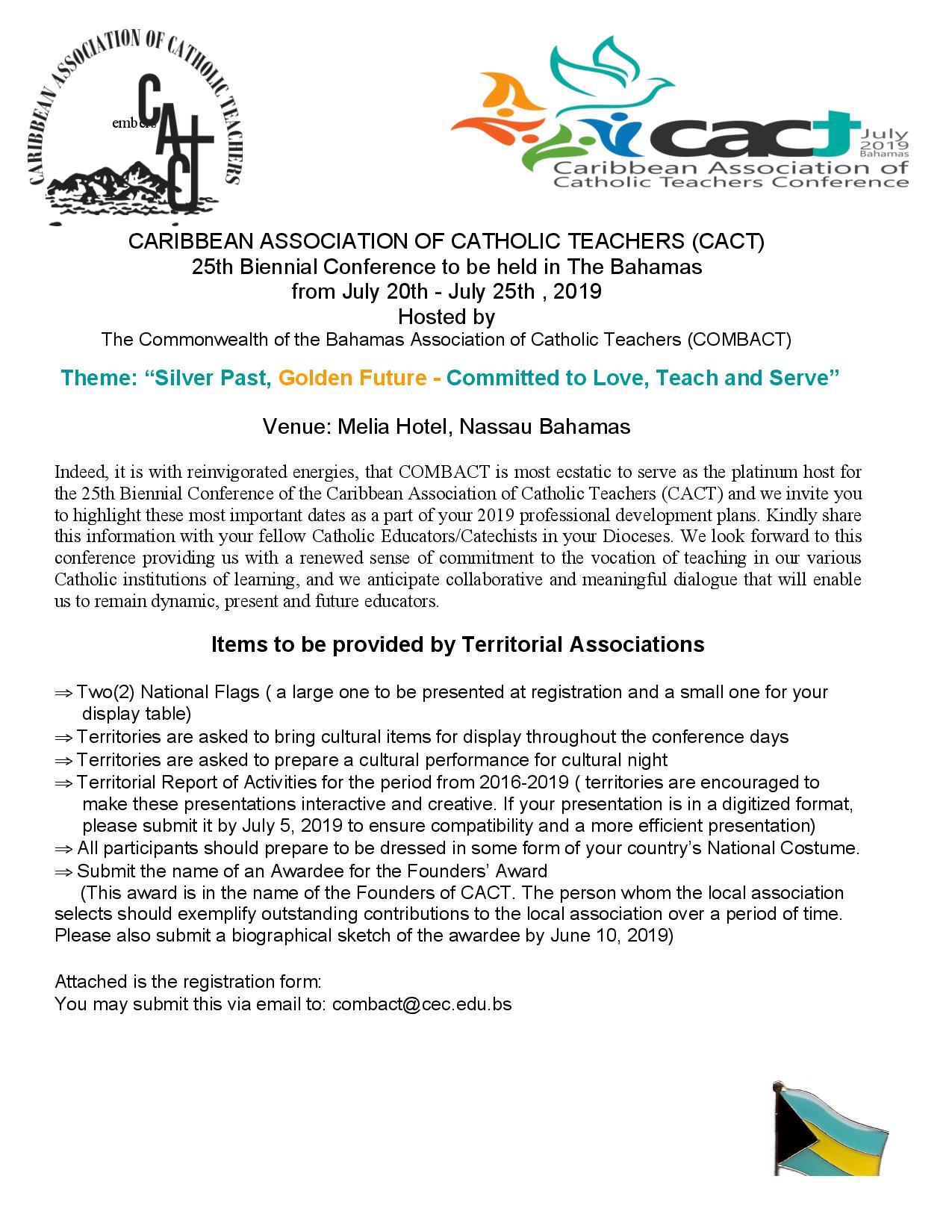 Caribbean Association of Catholic Teachers – 25th Biennial