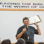 The homily gives meaning to the Word