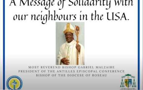 Bishop Gabriel Malzaire, shares a message of solidarity with our neighbours of the USA.