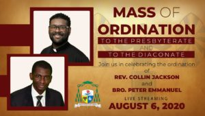 Mass of Ordination - Rev. Collin Jackson and Bro. Peter Emmanuel