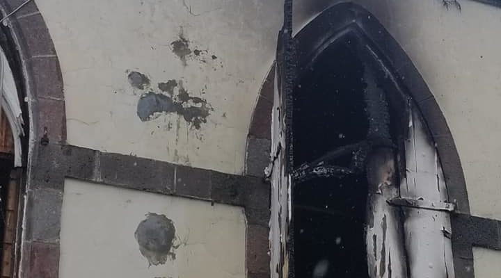Catholic church fires in Dominica and St Lucia